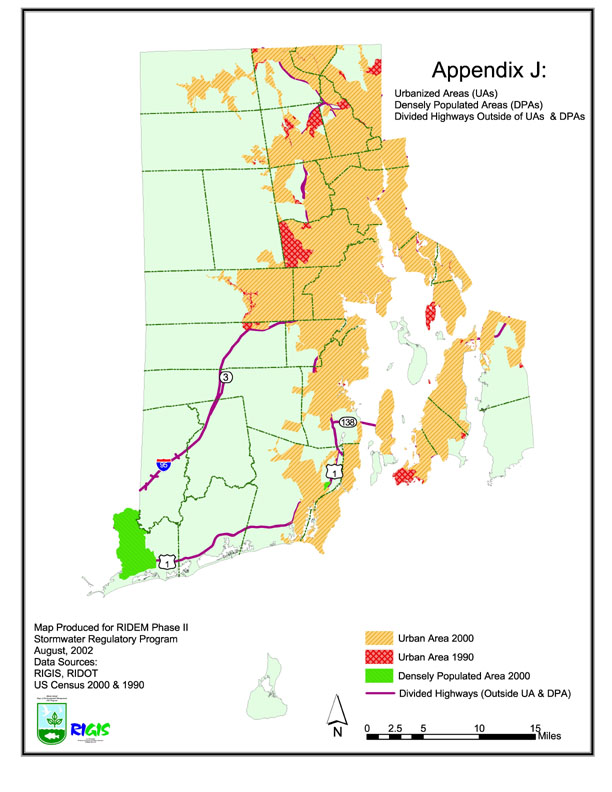 ripdes phase ii stormwater requirement areas ri environmental sensitivity index maps ri watersheds with