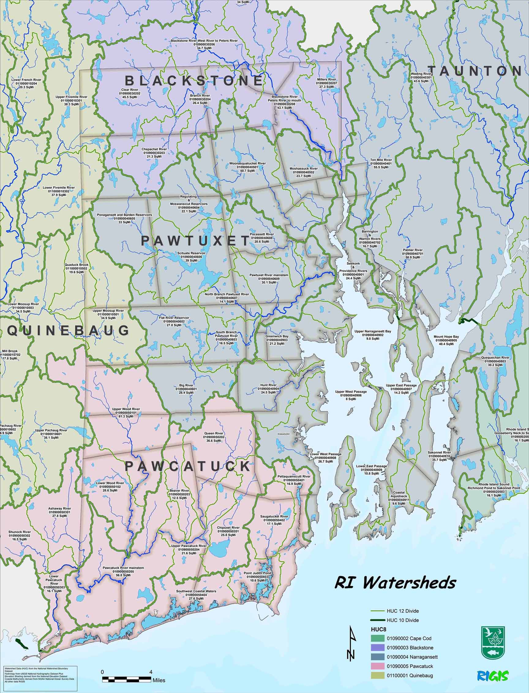 Data & Maps- Rhode Island -Department of Environmental Management