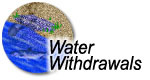 Water withdrawals icon